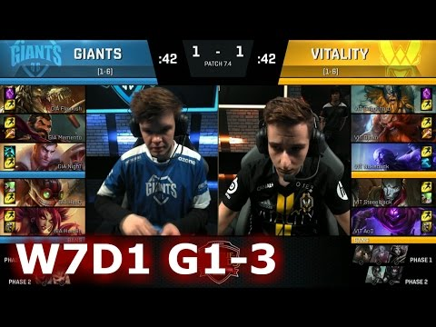 Vitality vs GIANTS | Game 3 S7 EU LCS Spring 2017 Week 7 Day 1 | VIT vs GIA G3 W7D1 1080p