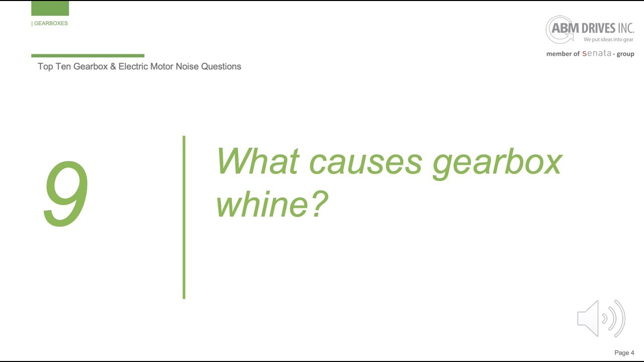 What causes gearbox whine?
