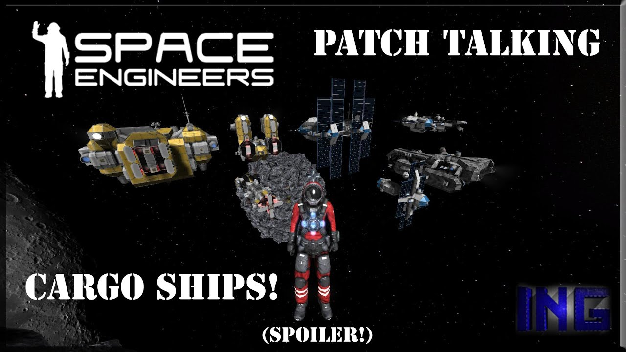 Space Engineers Cargo Ship Patch Ita Youtube