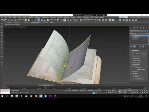 Открывающаяся книга в 3ds Max