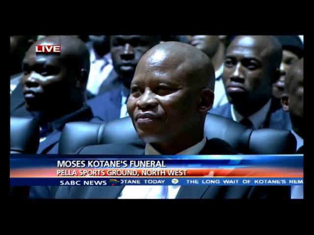 Supra Mahumapelo introducing former South African president Jacob Zuma.