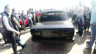 Drag-racing в Мариуполе. Старый аэропорт. Ваз 2107 амаг. Три призовых места