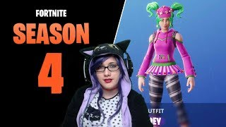 GETTING THE SKIN OF ZOEY💗Fortnite SEASON 4 Direct