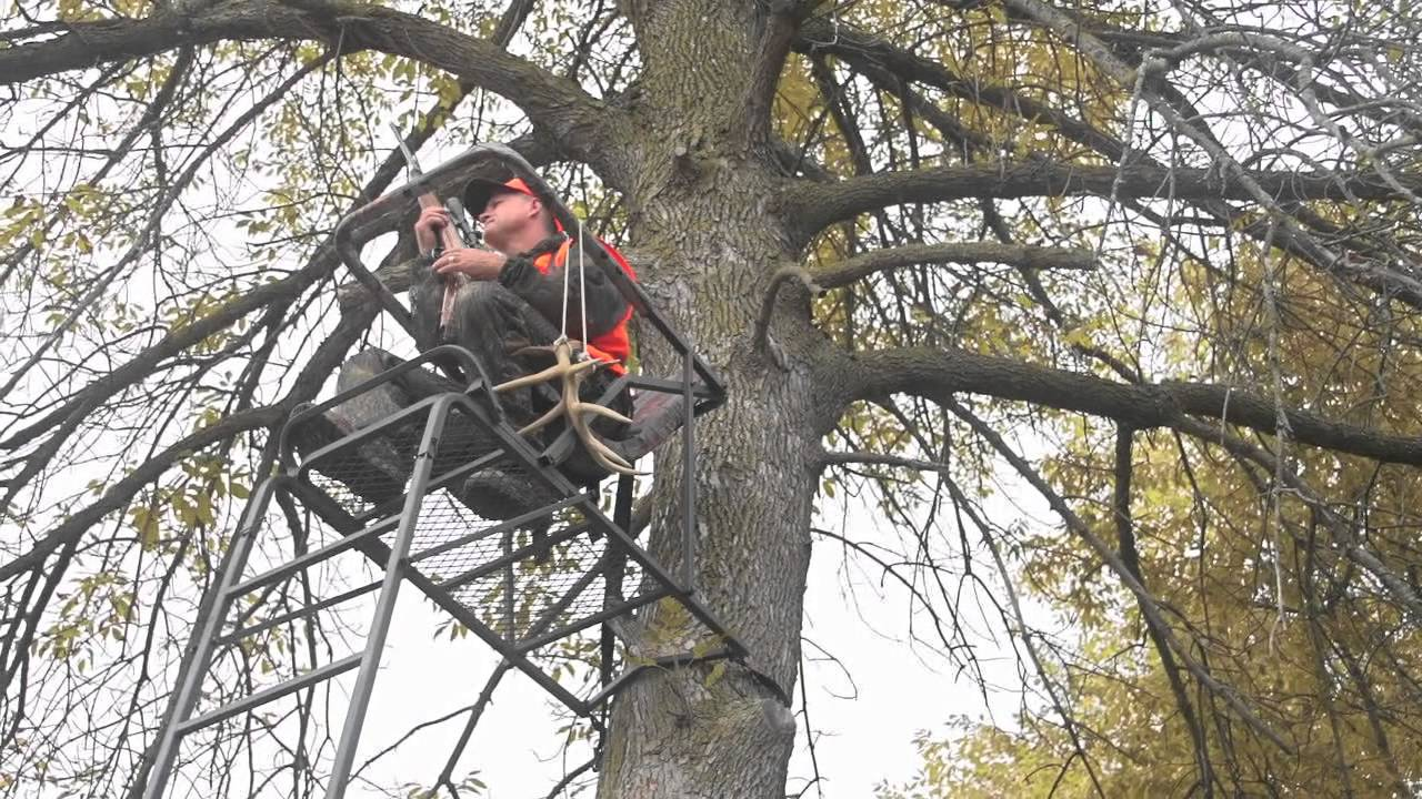 Guide Gear 17 Extreme Comfort Ladder Tree Stand Youtube
