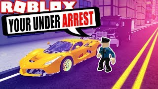 Trolling als Polizei im Fahrzeug-Simulator! *ARRESTED!* (Roblox Fahrzeugsimulator)