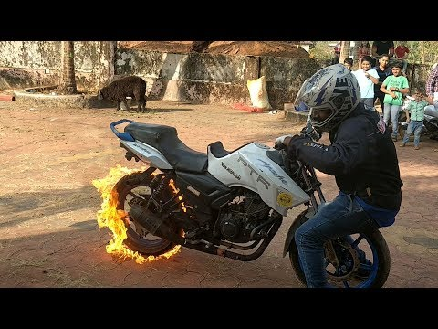 Suicide Fire Burnout - Tyre Blast - Most Dangerous Stunt