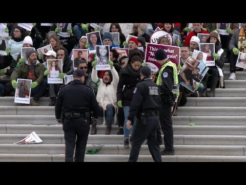 Raw Video: Police Arrest 182 Protesters at Capitol