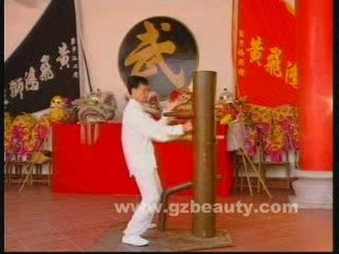 Wing Chun Quan-Wood-Figure stake Video