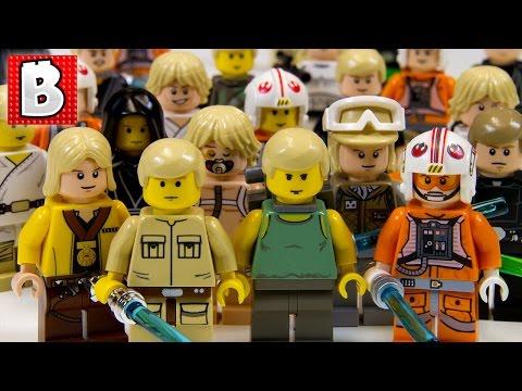 Every Lego Luke Skywalker Ever!!! + Rare Cloud City Luke & Dagobah Luke | Lego Collection