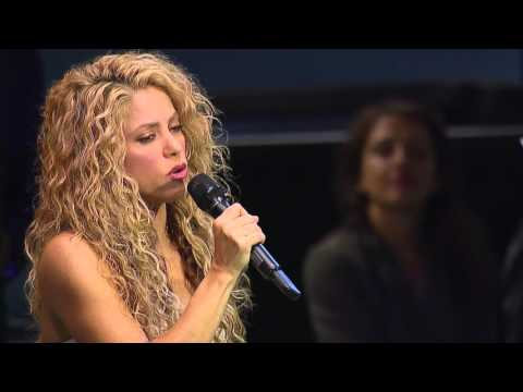Shakira (UNICEF Goodwill Ambassador) performing Imagine (by John Lennon)
