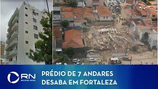 Bombeiros continuam as buscas por desaparecidos em Fortaleza