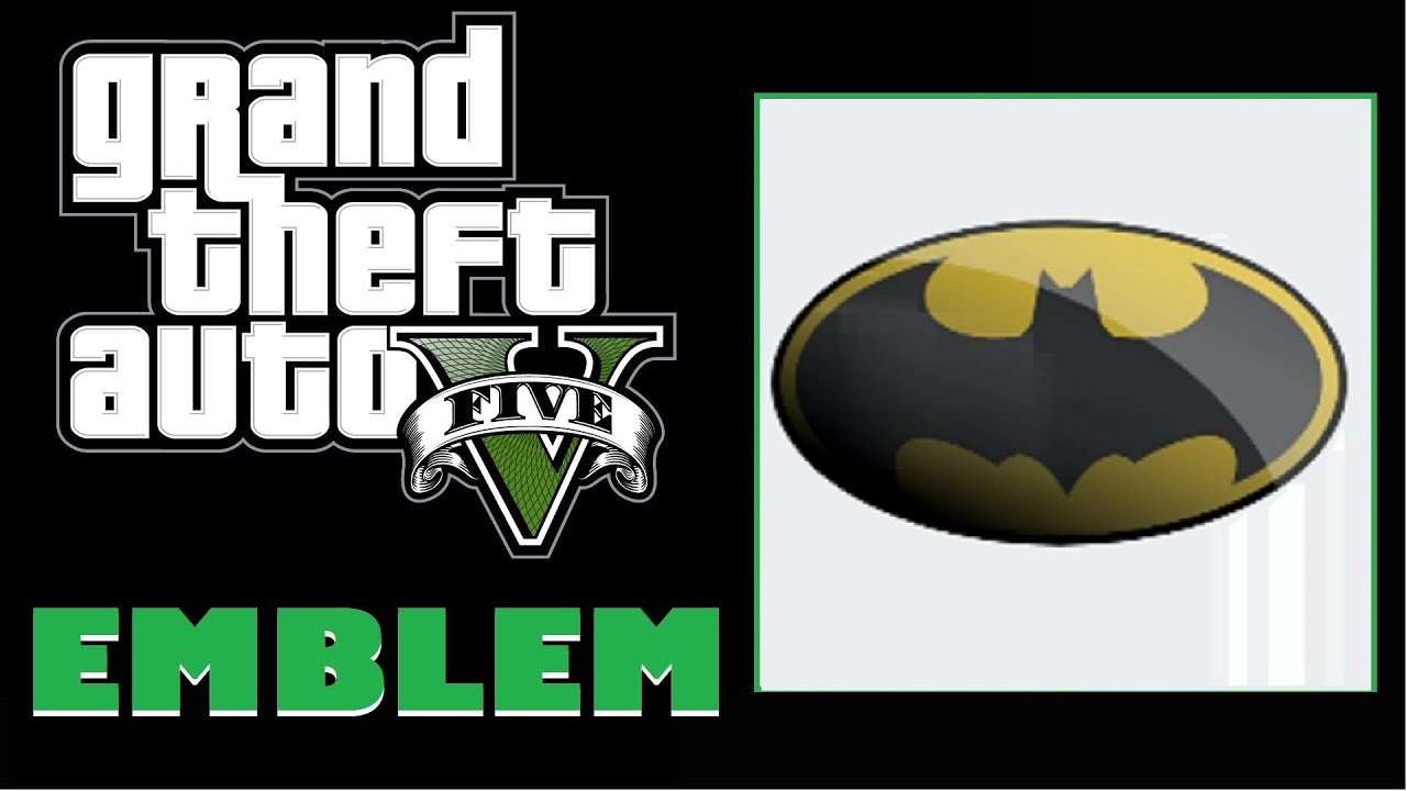 grand theft auto 5 gta 5 batman logo emblem tutorial youtube