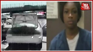 American Woman Rams her Car Into Police In A Bid To Escape Speeding Ticket