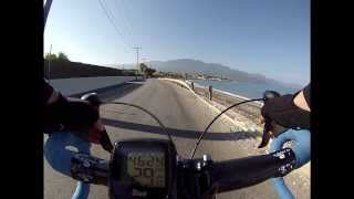 road bike high speed downhill in greece-gopro hero3+