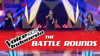 "Angel vs Fahira vs Brenda ""Irreplaceable"" I The Battle Rounds I The Voice Kids Indonesia 2016"