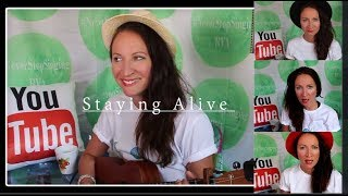 Staying Alive- The Bee Gees- cover