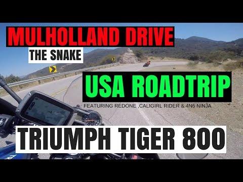 Mulholland drive   TRIUMPH TIGER   USA Roadtrip