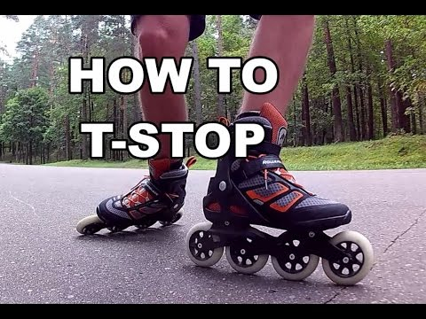 How to T-STOP on Inline Skates | ROLLERBLADE BASICS EP 1