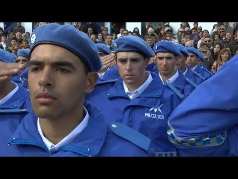 El intendente municipal, José Luis Vidal, encabezó esta tarde el acto de egreso de la primera camada de cadetes de la Policía Local