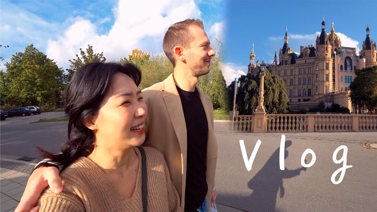[VLOG] 독일일상 : 베이킹 똥손의 수플레 팬케이크 🥞 + 가을휴가 막바지 슈베린 성 보러 당일치기 슈베린 여행 🏰🍁