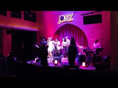 Having fun in Jazz bar, Doha