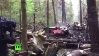 Видео с места крушения Су-27 в Подмосковье