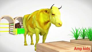 Learn colors with cow ! chu chu abckid ,choo choo moo moo for Kids & baby Amp Kids