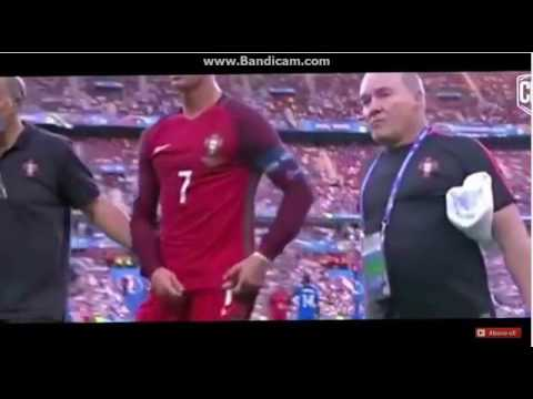 Cristiano Ronaldo Sakatlanma anı - Cristiano Ronaldo Injury Vs France - Euro 2016 HD