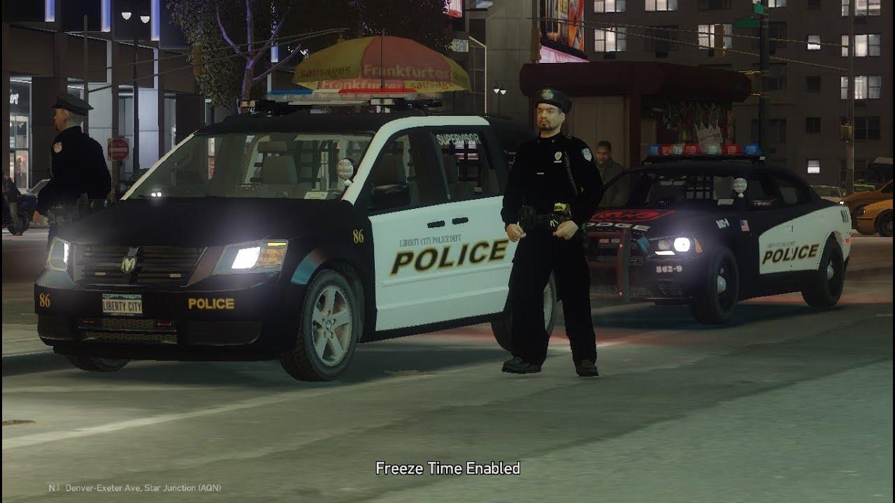 Gta 4 Police Dodge Caravan ELS v8 & Updated Charger - YouTube