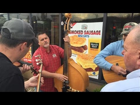 Bluegrass Musicians Jam at Local Hardee's