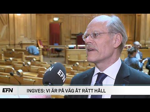 Ingves grillad i riksdagen