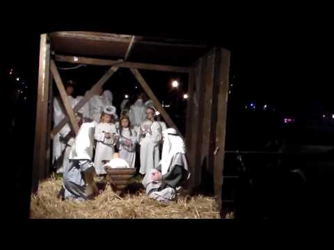 Live Nativity with Noelle as the center angel