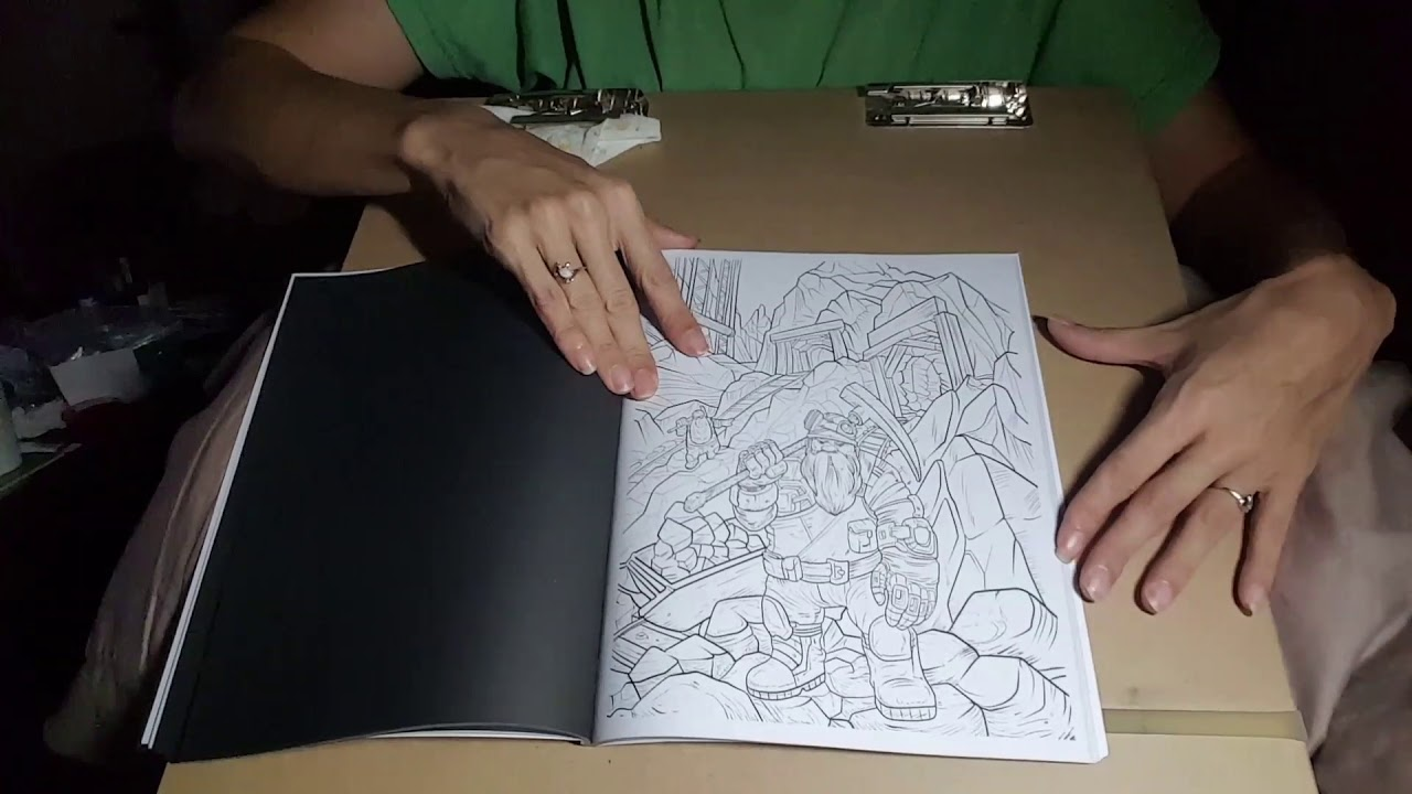 Silent Flip Through Of Revised Mens Coloring Book By Nathaniel Wake