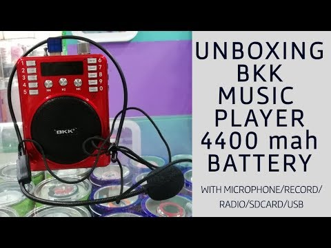 Unboxing Rechargeable Hi-Fi Sound Speaker Digital Bkk Music Player/FM Radio With 4400Mah Battery!