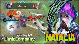 Never Walk Alone! Maniac Natalia by Limit.Company Top Global Natalia ~ Mobile Legends