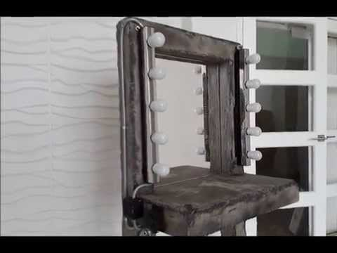 Ролик камин и гримерный столик