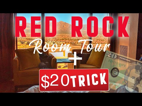 Red Rock Resort Room Tour Las Vegas - I Tipped $20 At Front Desk!