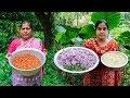 Village Ifter Recipe: Ghugni Recipe and Onion Pakoda Recipe - Onion Fried a Village Street Food