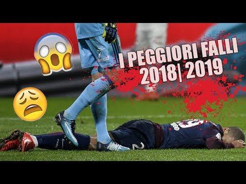 I PEGGIORI FALLI E INFORTUNI NEL CALCIO | 2018 2019 - Marcelo Mbappe Sergio Ramos