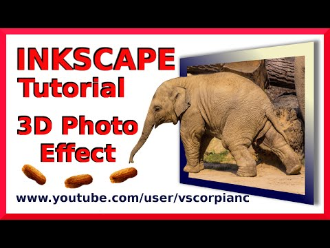 Inkscape Tutorial - How to Create 3D Photo Pop Effect by VscorpianC