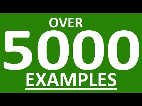 OVER 5000 EXAMPLES WITH ENGLISH WORDS FOR ENGLISH CONVERSATION. Learn English Speaking Easily