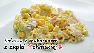 Sałatka z zupek chińskich | smaczne-przepisy.pl