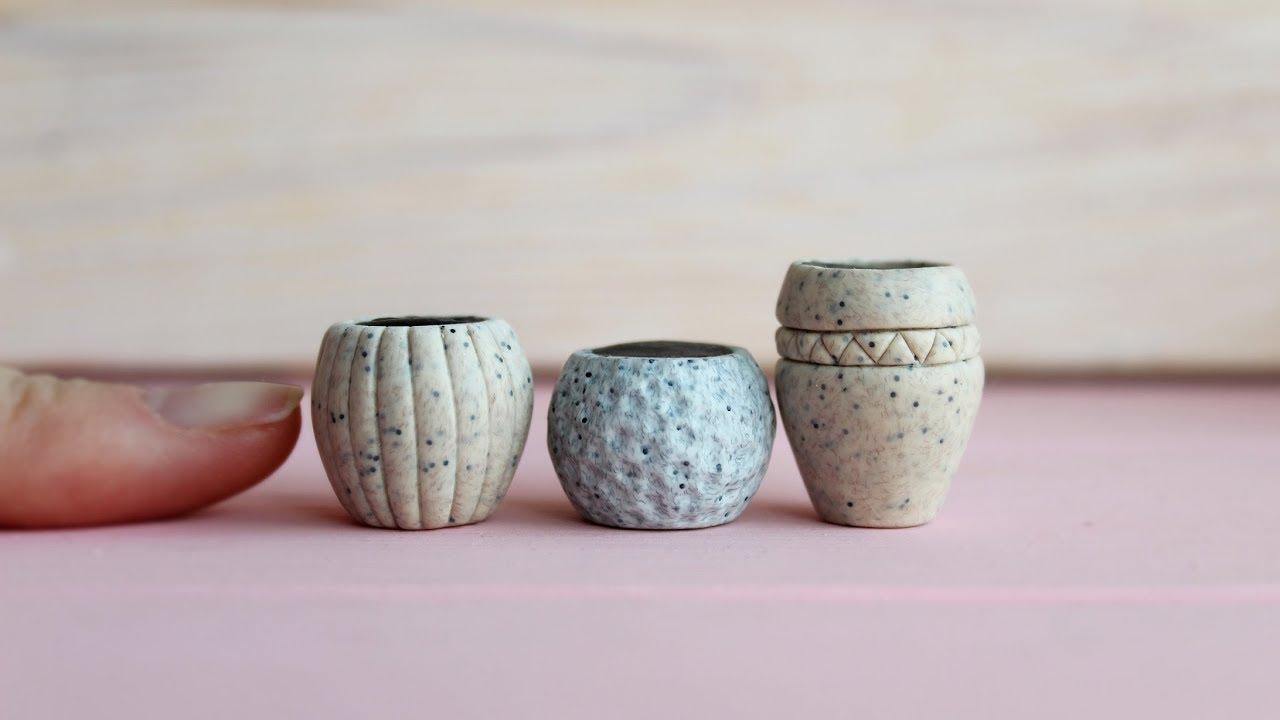 Dollhouse Miniature Clay Pot with Saucer