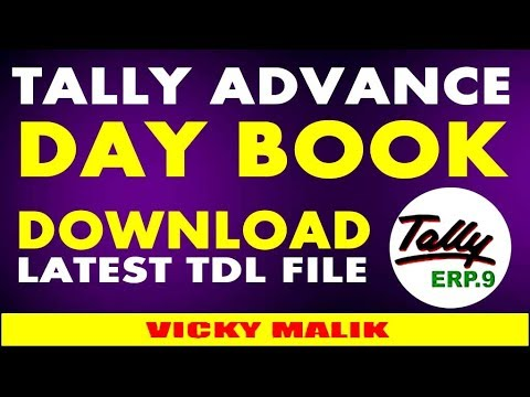 Tally ERP 9 Advance Day Book TDL File, Tally Columnar Day Book TDL,  Download Tally Latest TDL Files