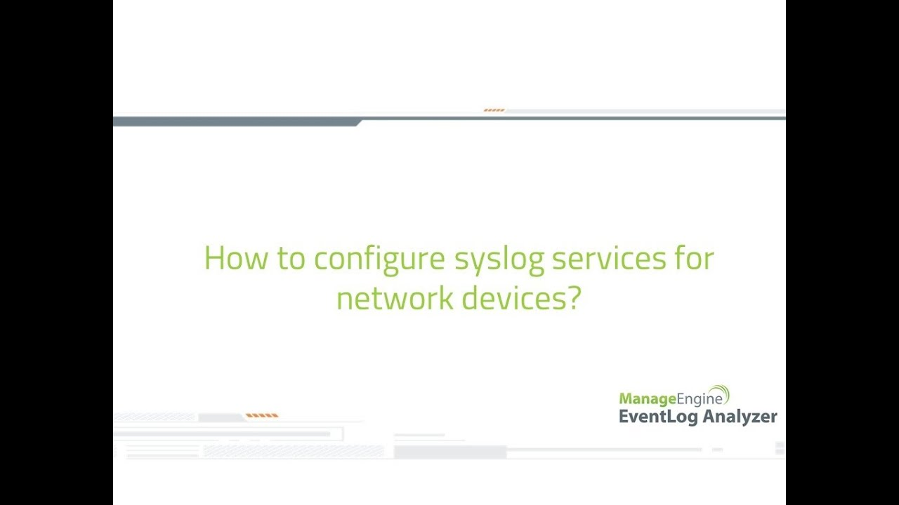 How to configure syslog service for a network device?