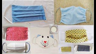 6 modelos de Mascaras de Proteção Costurada a Mão