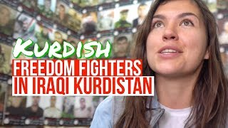 Having Coffee with anti-ISIS Peshmerga Soldiers in Iraqi Kurdistan | Martyrs Cafe in Duhok