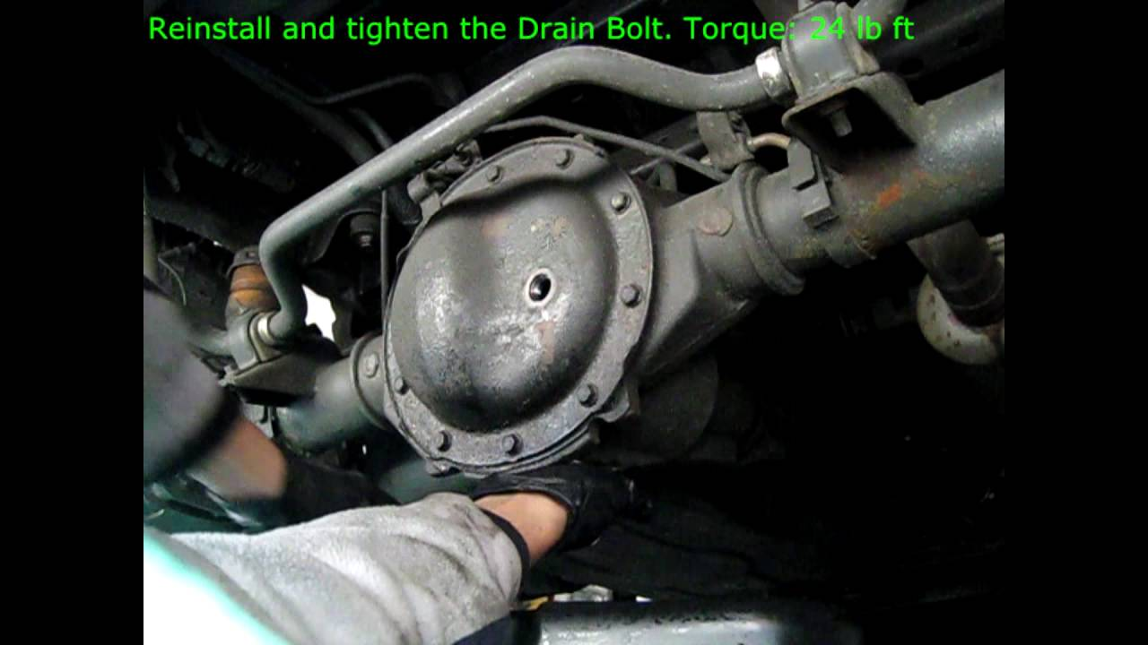 how to change axle differential oil fluid in 4x4 truck. Black Bedroom Furniture Sets. Home Design Ideas