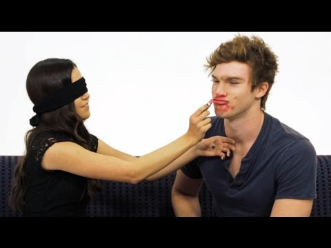 Blindfolded Makeup Challenge w/ Megan Nicole!