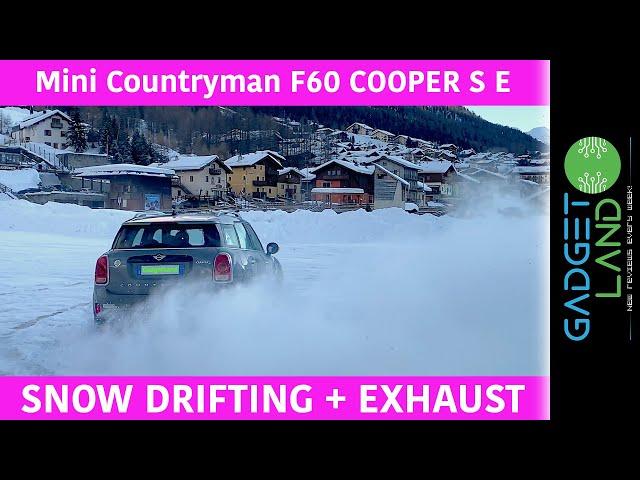 Mini Countryman F60 COOPER SE Hybrid | STRAIGHT PIPE Supersprint EXHAUST snow drifting | All4